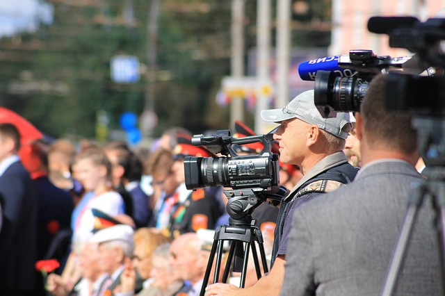 Image of a camera men at an event