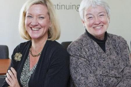 Photo of Rutgers Professors Dorothy Olshfski and Angie McGuire